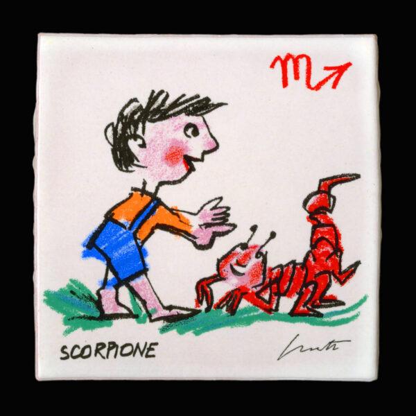 Emanuele_Luzzati_piastrella_segni_zodiacali_scorpione