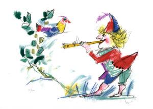 Emanuele Luzzati il flauto magico, papageno